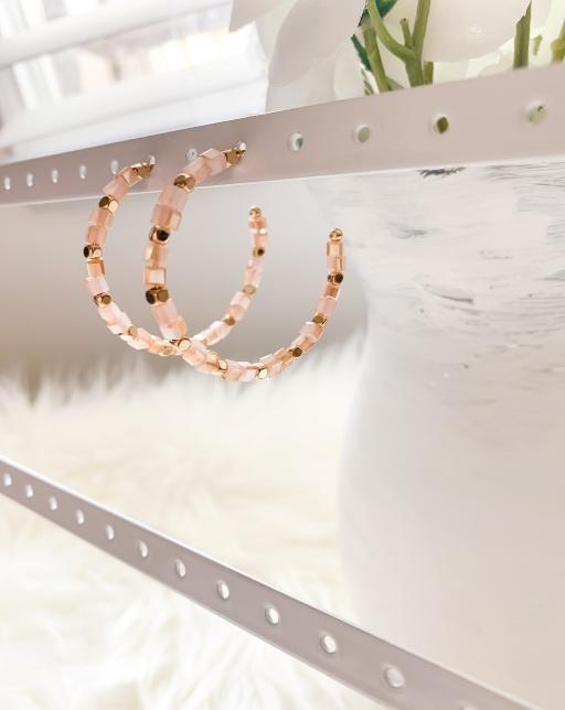 pink bead hoops 2